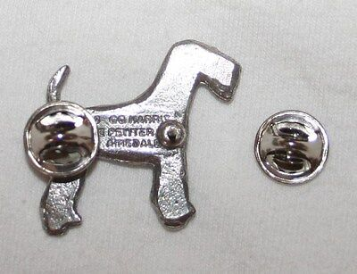 Airedale Terrier Dog Fine PEWTER PIN Jewelry Art USA Made