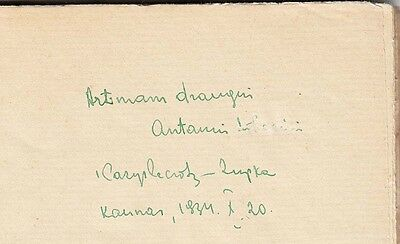 "AVANT-GARDE Cover POETRY Collection ""SEPTYNI"" K. ZUPKA Autograph LITHUANIA 1930 3"