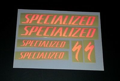 Metallic Silver Specialized vinyl sticker decal