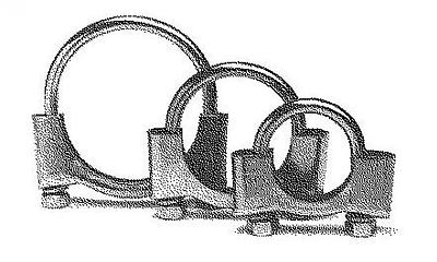250-362 Abgasanlage  BOSAL Klemmstück
