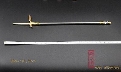 toy 1:6 1//6 big axes halberd Three kingdoms LU BU sword weapon metal 22cm 车轮大斧