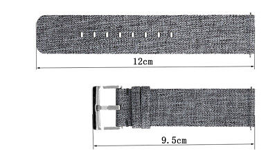 Woven Fabric Strap Wrist Band for Fitbit Versa Tracker w/ Stainless Metal Clasp 2