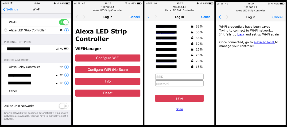 ALEXA COMPATIBLE WIFI Remote Control for LED Strip or Relay NodeMCU ESP8266