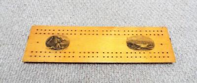 Mauchline Ware Cribbage Board Antique c1870 Holyhead Harbour 6
