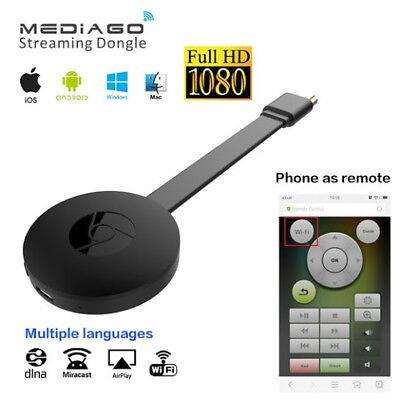 Chromecast TV Streaming wireless HDMI media player Miracast clone mirror G 2 10