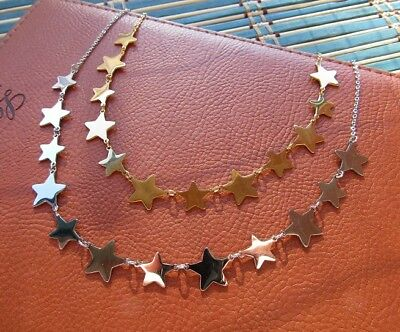 Collana con 12 stelle in acciaio 316L - Oro/Argento Moda Novità 4