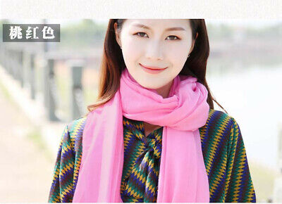 US Seller- 12 Discount Scarf scarves plain casual light weight shawls wholesale 4