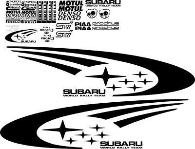 Subaru Impreza Wrx Sti Wrc Full Rally Stars Vinyl Decals Kit