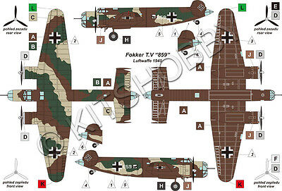 Valom Models 1//72 FOKKER T.V in German Luftwaffe Markings