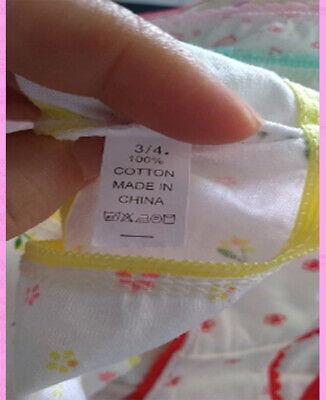 Girls 3 pack underwear knickers briefs 100% COTTON panties Age 3-11 years 12