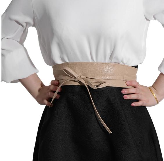 f37050f8bd6f11 Damen Bindegürtel Taillengürtel aus Faux Leder breiter Hüftgürtel Damen  Unisize 3 3 von 4 Siehe Mehr
