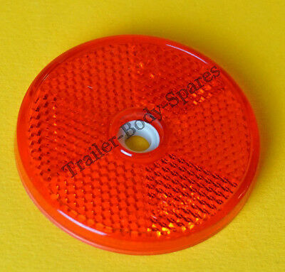6 x 80mm XL Red Hi-Intensity Reflectors for gateposts trailers horseboxes 2