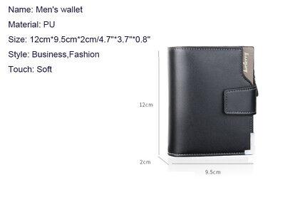 Men Leather Wallet ID Credit Card Holder Clutch Bifold Pocket Zipper Coin Purse 3