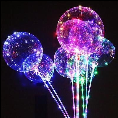LED Light  Transparent Balloon Wedding Birthday Xmas Party Lights Decoration 2