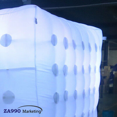 Inflatable LED Light Photo Booth Tent Wedding Birthday Party With Air Blower 5