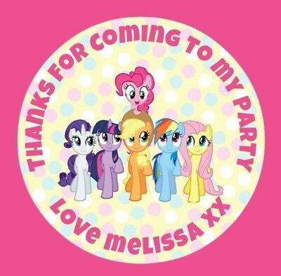 Personalised Rainbow Dash PONY inspired Labels Sticker Party sweet cone bags