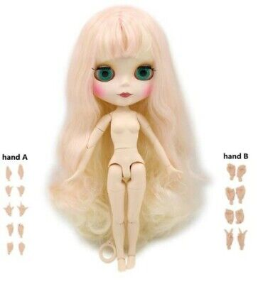 """Eyes Change 4 Colors 11.8/"""" Neo 30cm Blythe Doll Nude Joint Body Long Hair Icy"""