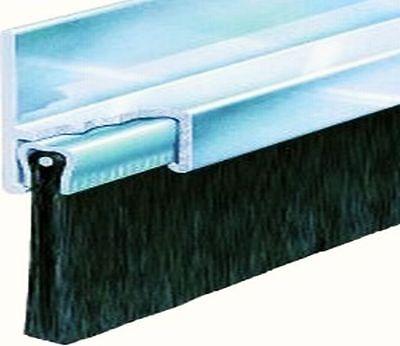 Türbürste ALU eloxiert div Farben Längen Besatzhöhen Besatzarten Dichtbürste