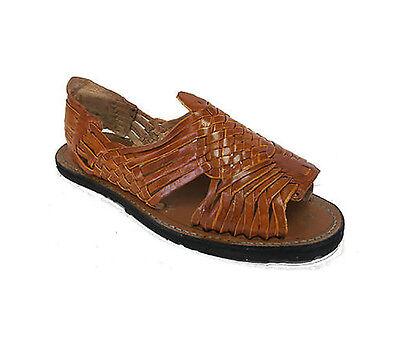e1c6f615f8e61 ... Men s Leather Hand Made Woven Handmade Huaraches Pachuco Sandals Flip  Flop Slip 2