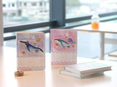 """""""Universe Whale"""" 1pc Cute Monthly Daily Planner Agenda Diary Journal Free Note 4"""
