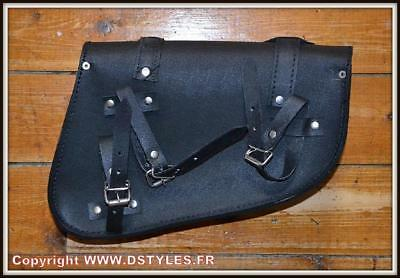Simple { Harley Sportster 883 //1200 Iron Trousse latérale en Cuir Forty }