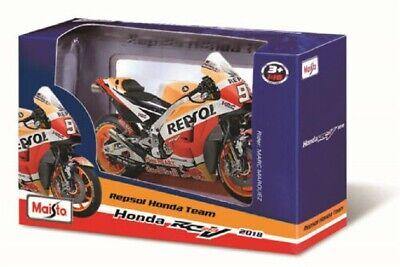 Maisto 1:18 Motogp 2018 Honda Repsol Yamaha YZR-M1 ROSSI Motorrad Modell 4PCS