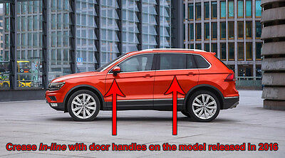 VW Tiguan Mk2 Stainless Steel Sill Protectors / Kick Plates 6