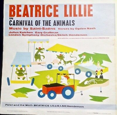 DECCA LP SXL-2218 Beatrice Lillie, Peter & The Wolf, Carnival of Animals  1960 UK