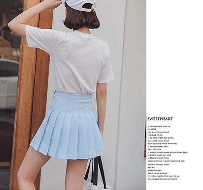 Girls School Uniform Skater Skirt Kids High Waist Pleated Skirt Tennis for Women 4