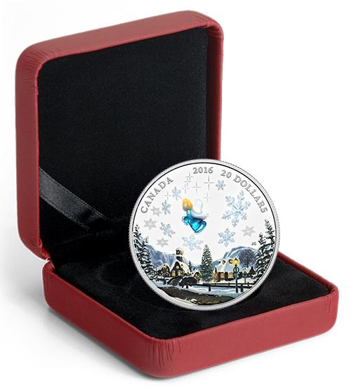 1 oz. Fine Silver Coin – Venetian Glass Angel (2016) No. 147315 3