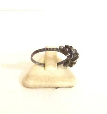 Vintage Excellent Early 20Th Century Silver Ring With Nice Filigree # 773 3