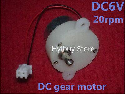 2pcs Small mini dc geared motor 3V-6V 5V worm brush gear motor Slow low speed 2