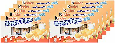 Kinder Happy Hippo Hazelnut and Cream 10 Boxes x 5 Biscuits = 50 3
