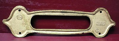 Authentic Antique Cast Brass Mail Slot & Inside Trim Plate W/original Screws #1 4