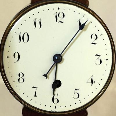 Antique English 8 Day Balloon Head Mahogany Mantle Clock 2