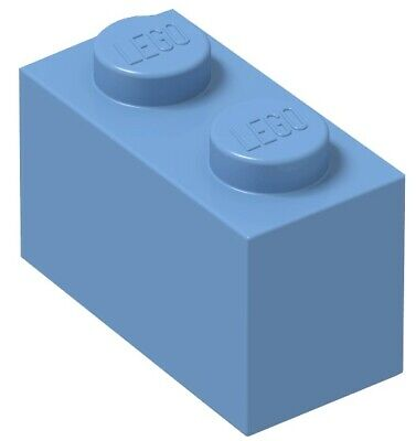 ☀️Lego x50 MEDIUM BLUE 1x2 Bricks blocks Part Pieces Bulk Lot Legos #3004