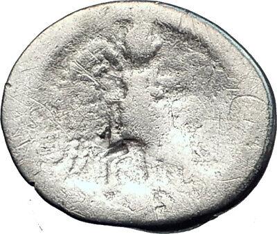 Roman Republic 89BC M. Cato Young Man Victory Quinarius Silver Roman Coin i44537 2