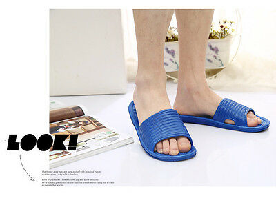 1 of 4FREE Shipping Mens Slip On Sport Slide Sandals Flip Flop Shower Shoes  Slippers House Gym