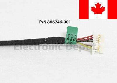 New HP 15-AB 15-AN 15-AK 15-BS DC Jack Cable 799749-F17 799749-S17 799749-Y17 3