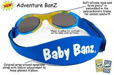 Baby Banz 0-2yr Boys Aqua Blue Oval Adventurer Sunglasses 100% UVA Protection