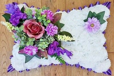 Silk Artificial Funeral Flowers Wreath/Memorial/Grave Tribute Wreaths 2