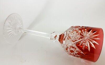 Römer Weinglas eingestochene Luftblase Handschliff Val St Lambert um 1900  AL141 10