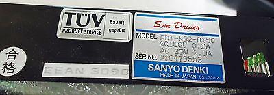 Sanyo Denki San Drive M/n Pdt-K02-0150, Ac 100V, 0.2A, 35V Ac, 2.0A S/n 01047955 2