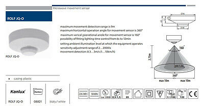 360 Grad Pir Bewegungssensor Licht Schalter Decken Einbauwandplatte Detektor