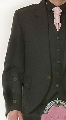 Scottish Grey Argyle Jacket & Vest  Bone Effect Button Ex Hire £99 Lots Of Sizes 2