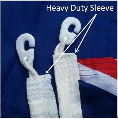 **FREE SHIPPING** HEAVY DUTY 1800x900 Australian Flag Polyester Sister Clips 3