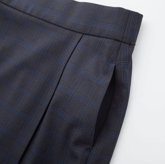 57c57793d6 UNIQLO WOMEN Check Narrow Skirt High Waist Blue BNWT Size M 6 6 of 7 See  More