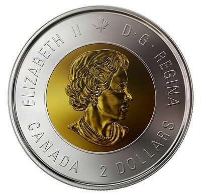 2018 Armistice Toonie $2 Color Coin from special wrap Canada Royal Mint roll 2