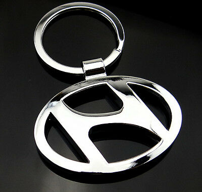 Car Logos 3D chromed Titanium Key Chain Car Keychain Ring Keyfob Metal Keyrings 4