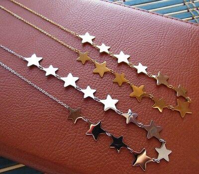 Collana con 12 stelle in acciaio 316L - Oro/Argento Moda Novità 5